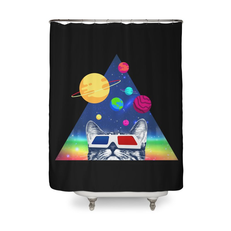 3D Cat Home Shower Curtain by clingcling's Artist Shop