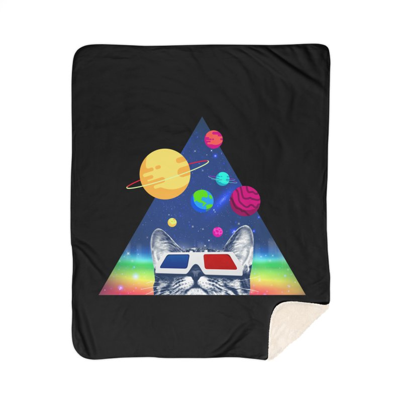 3D Cat Home Sherpa Blanket Blanket by clingcling's Artist Shop