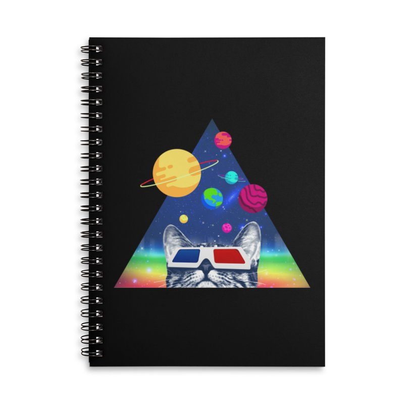 3D Cat Accessories Lined Spiral Notebook by clingcling's Artist Shop