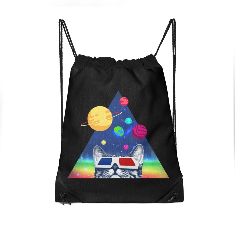 3D Cat Accessories Drawstring Bag Bag by clingcling's Artist Shop