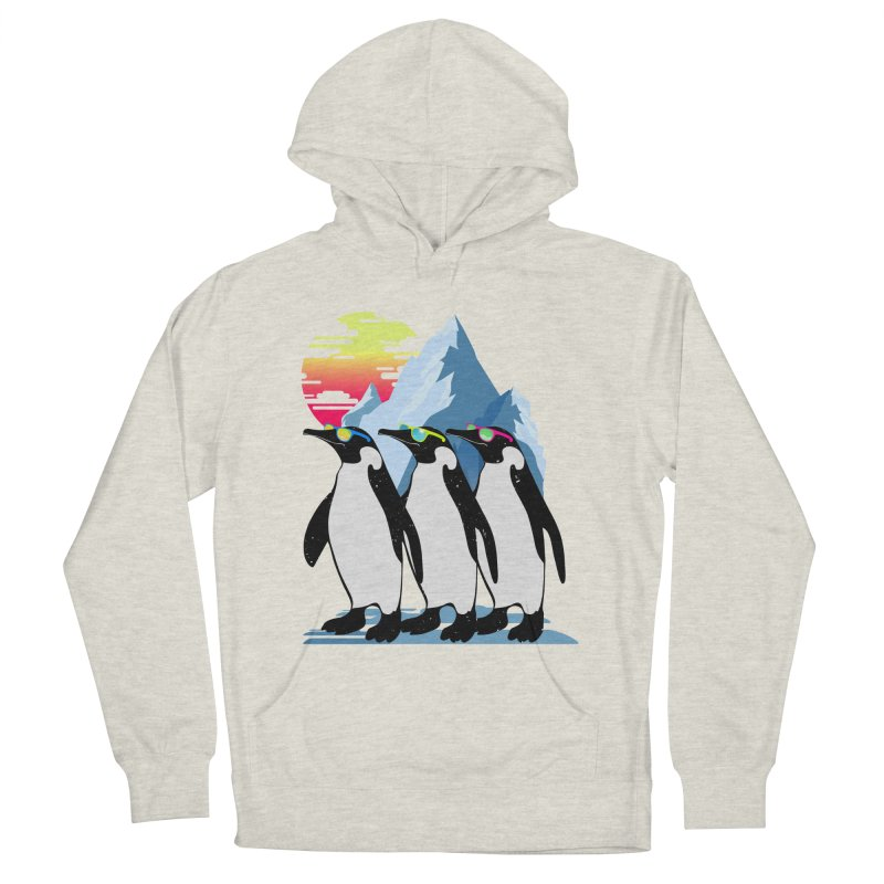 Cool Penguin Men's French Terry Pullover Hoody by clingcling's Artist Shop