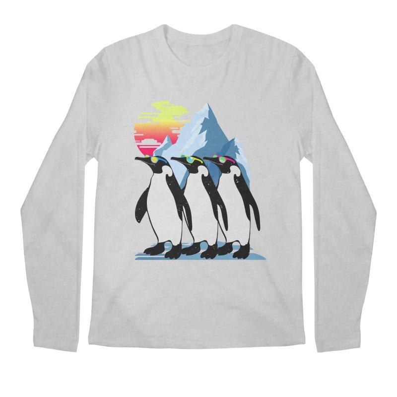 Cool Penguin Men's Regular Longsleeve T-Shirt by clingcling's Artist Shop