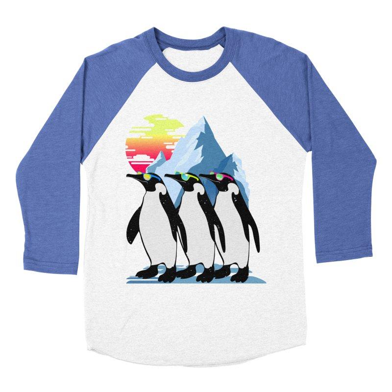 Cool Penguin Men's Baseball Triblend Longsleeve T-Shirt by clingcling's Artist Shop