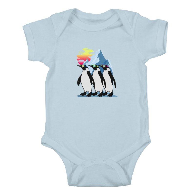Cool Penguin Kids Baby Bodysuit by clingcling's Artist Shop