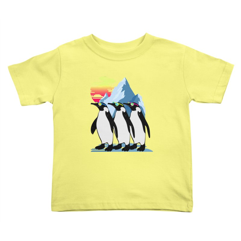 Cool Penguin Kids Toddler T-Shirt by clingcling's Artist Shop