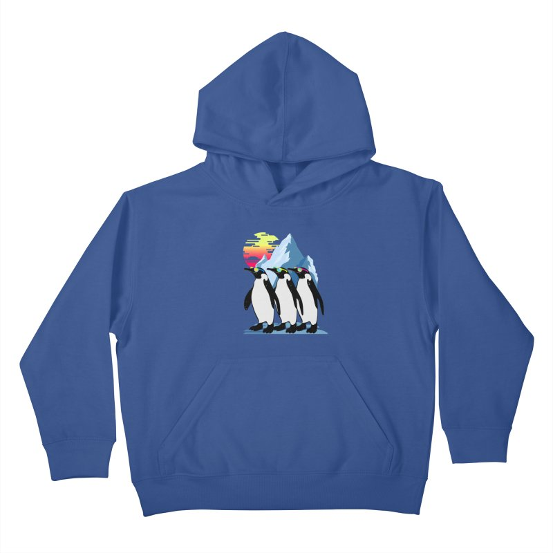 Cool Penguin Kids Pullover Hoody by clingcling's Artist Shop