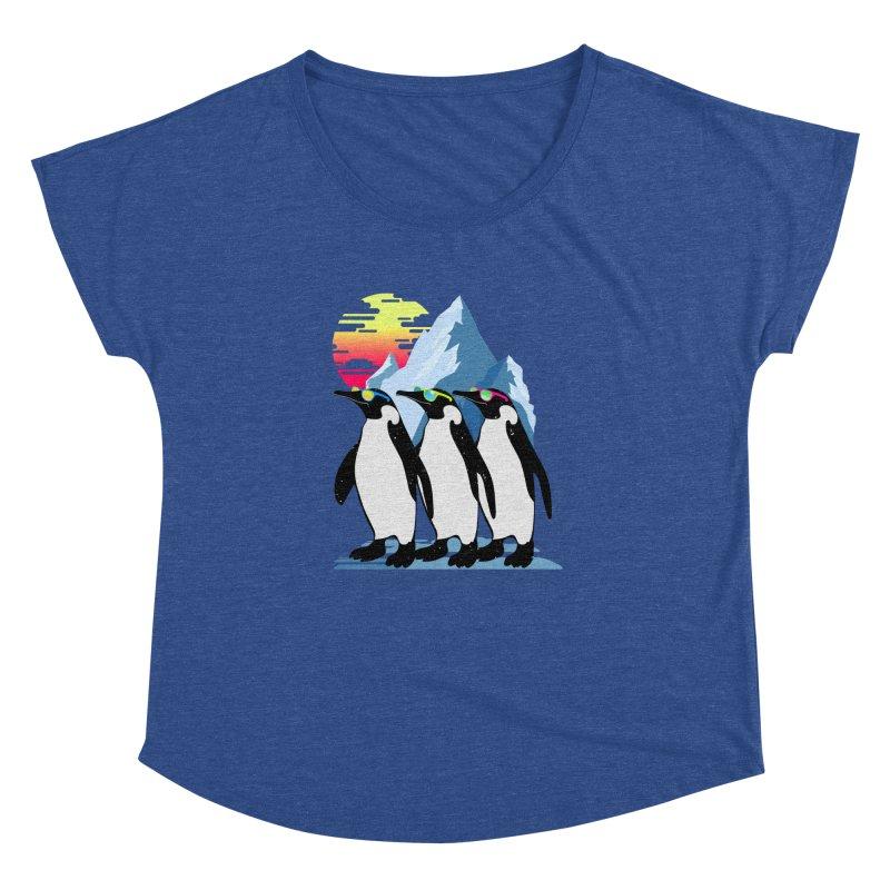 Cool Penguin Women's Dolman Scoop Neck by clingcling's Artist Shop