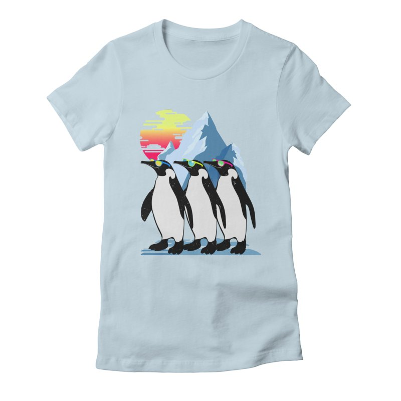 Cool Penguin Women's Fitted T-Shirt by clingcling's Artist Shop