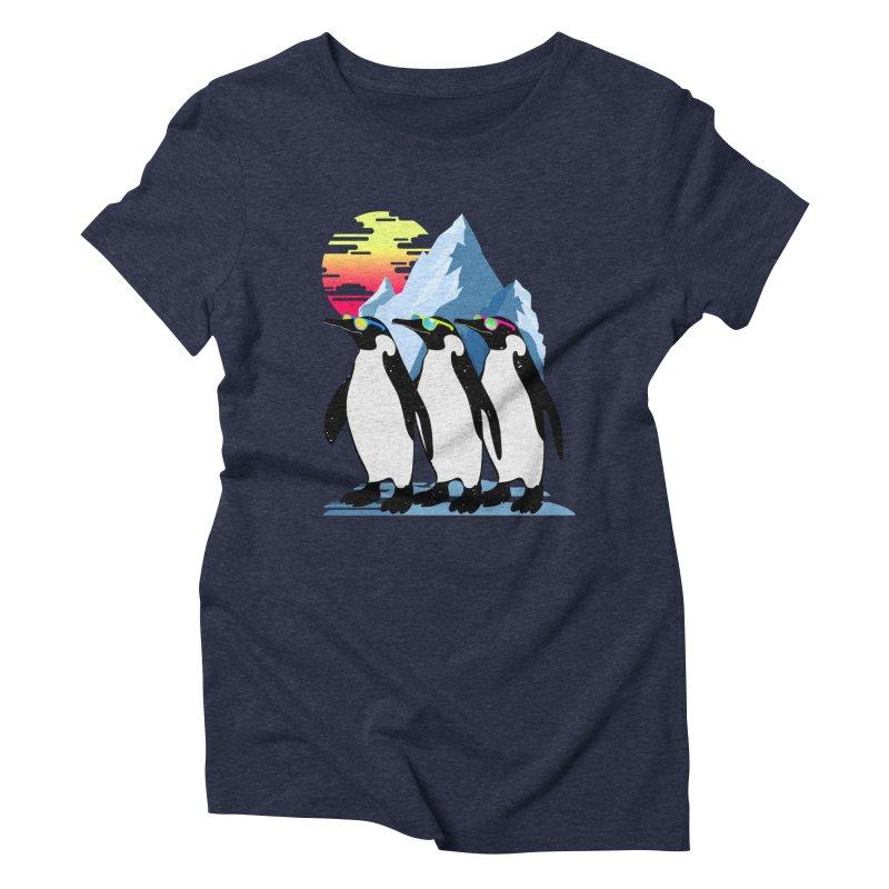 Cool Penguin Women's Triblend T-Shirt by clingcling's Artist Shop