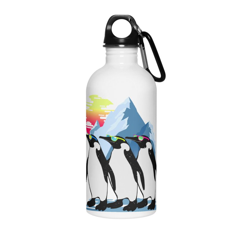 Cool Penguin Accessories Water Bottle by clingcling's Artist Shop