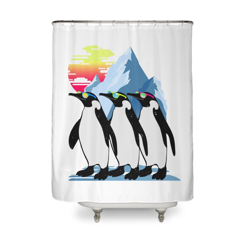 Cool Penguin Home Shower Curtain by clingcling's Artist Shop