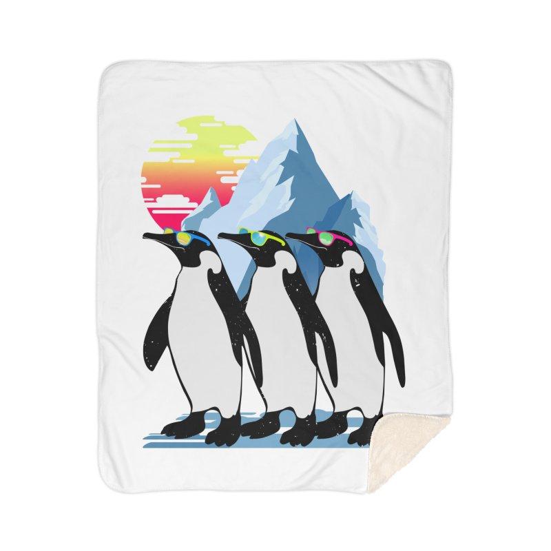 Cool Penguin Home Sherpa Blanket Blanket by clingcling's Artist Shop