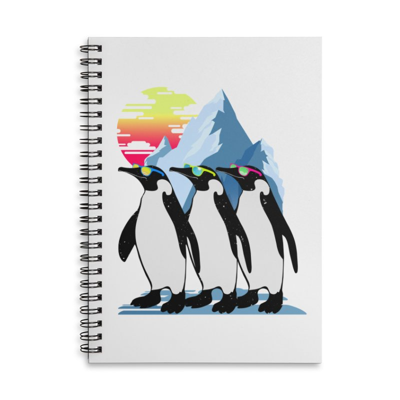 Cool Penguin Accessories Lined Spiral Notebook by clingcling's Artist Shop