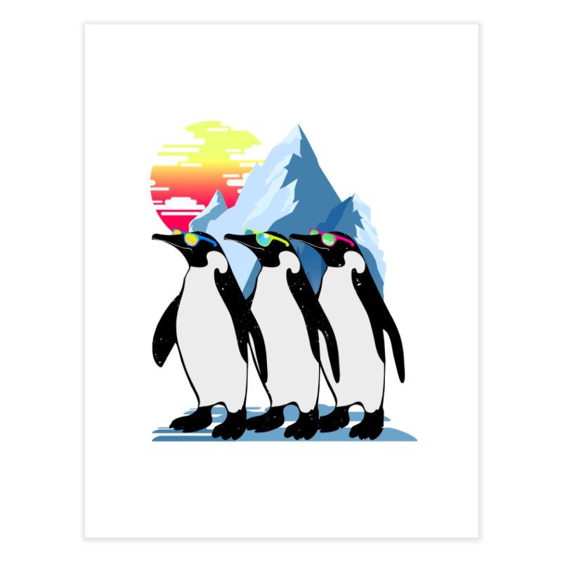 Cool Penguin Home Fine Art Print by clingcling's Artist Shop