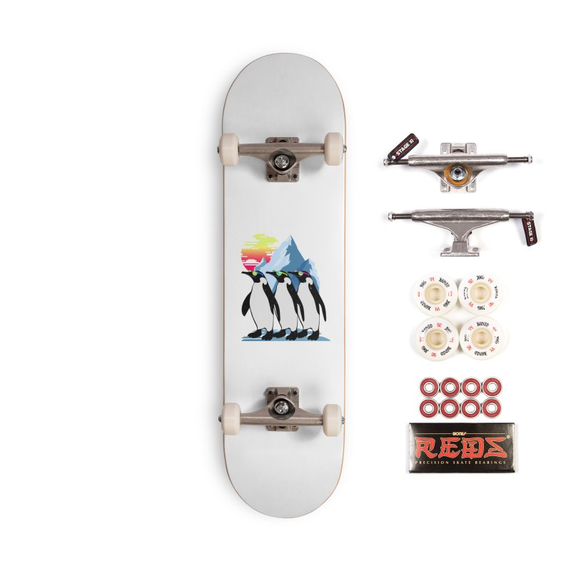 Cool Penguin Accessories Complete - Pro Skateboard by clingcling's Artist Shop