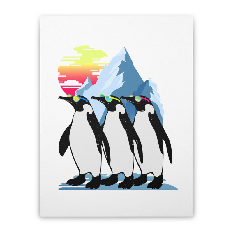 Cool Penguin Home Stretched Canvas by clingcling's Artist Shop
