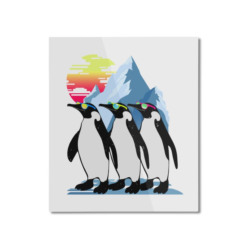 Cool Penguin Home Mounted Aluminum Print by clingcling's Artist Shop