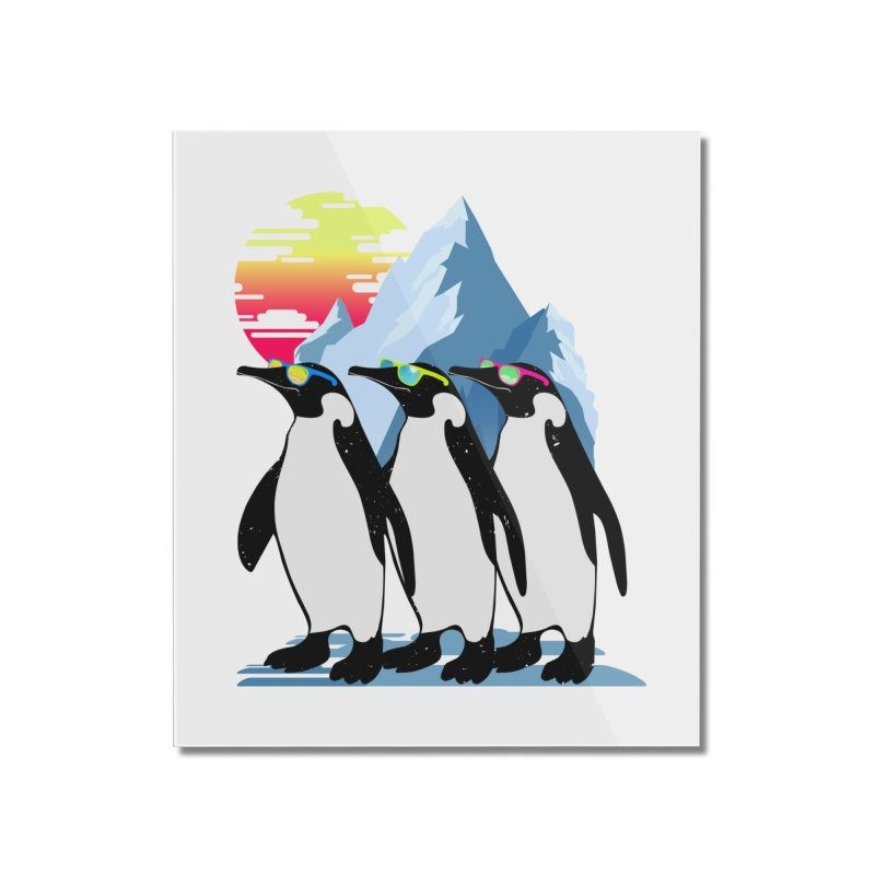 Cool Penguin Home Mounted Acrylic Print by clingcling's Artist Shop