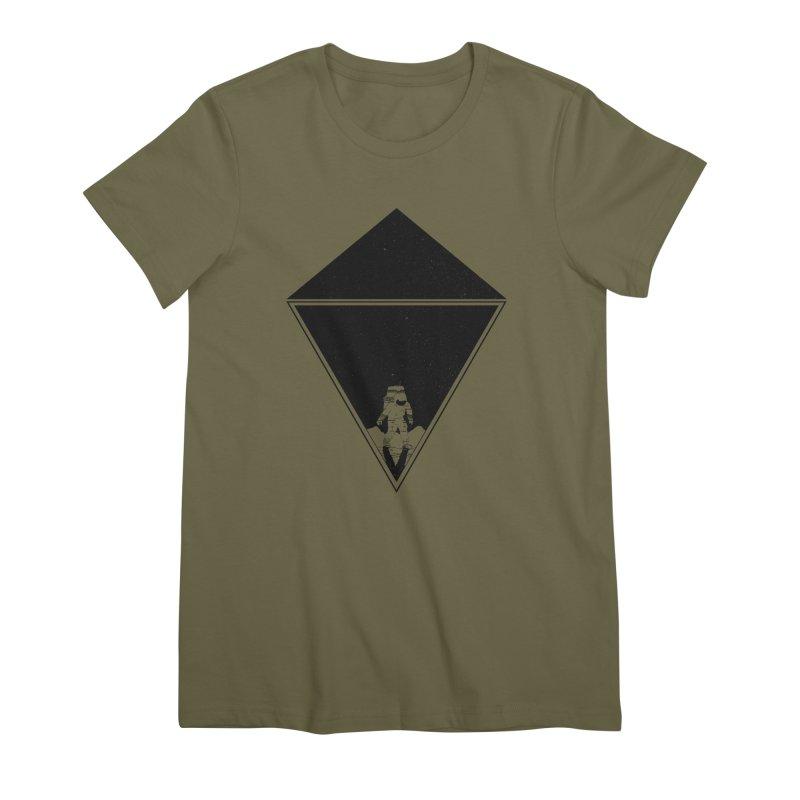 Empty Space Women's Premium T-Shirt by clingcling's Artist Shop