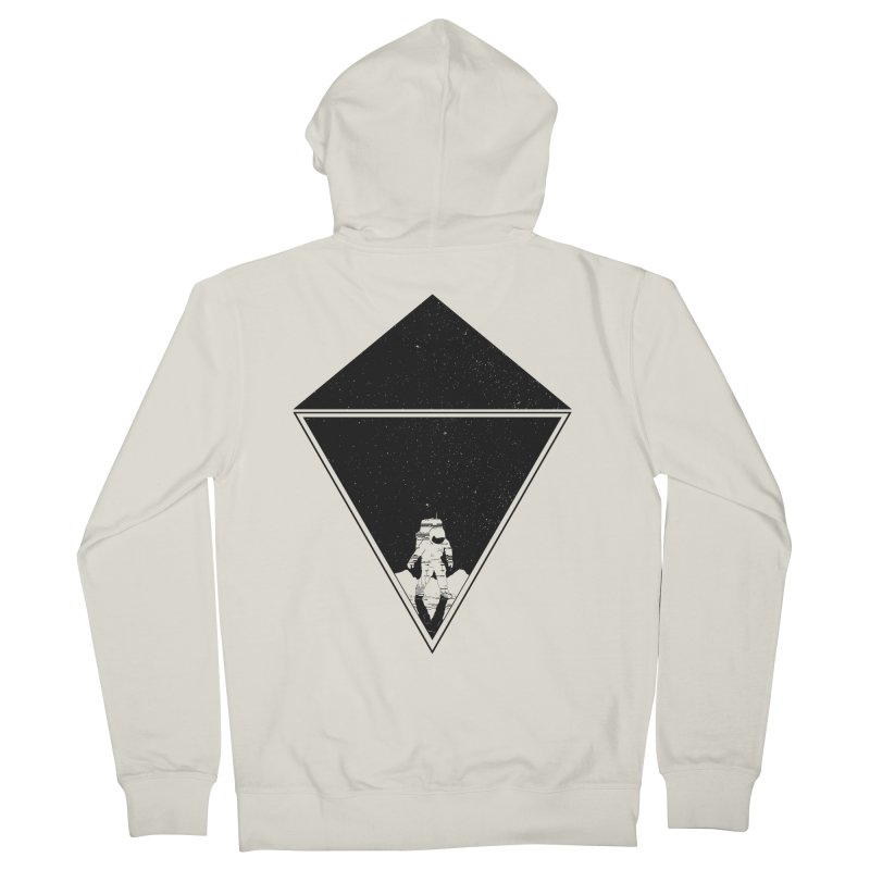 Empty Space Women's French Terry Zip-Up Hoody by clingcling's Artist Shop