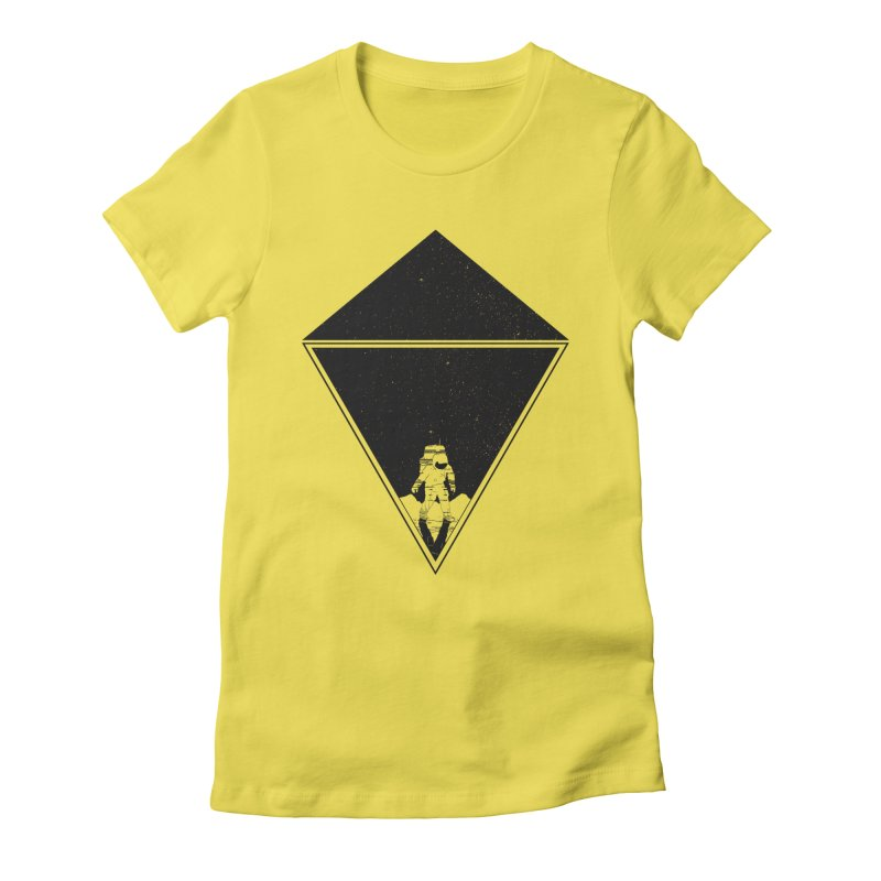 Empty Space Women's Fitted T-Shirt by clingcling's Artist Shop