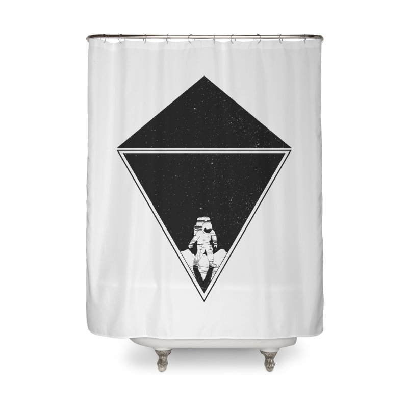 Empty Space Home Shower Curtain by clingcling's Artist Shop