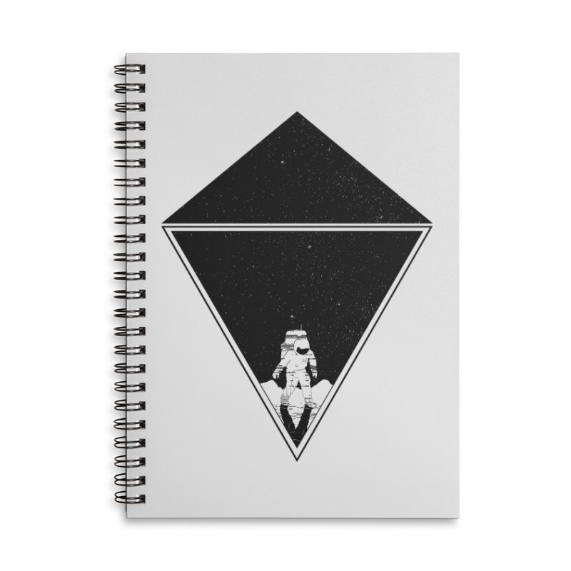 Empty Space Accessories Lined Spiral Notebook by clingcling's Artist Shop
