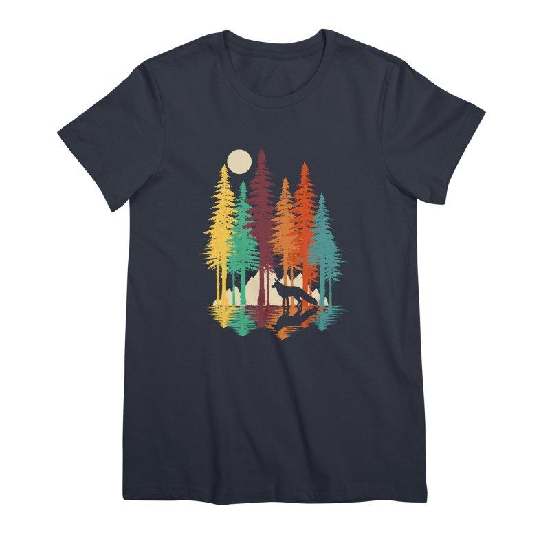 Forest Fox Women's Premium T-Shirt by clingcling's Artist Shop