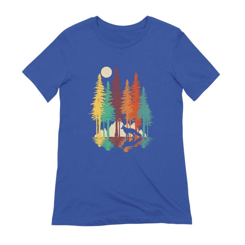 Forest Fox Women's Extra Soft T-Shirt by clingcling's Artist Shop