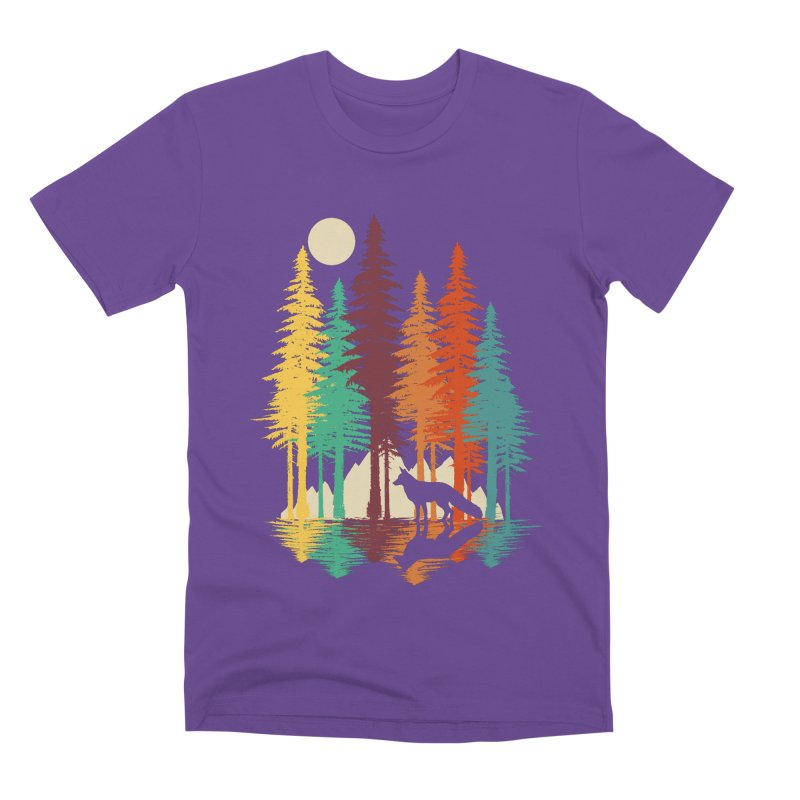 Forest Fox Men's Premium T-Shirt by clingcling's Artist Shop