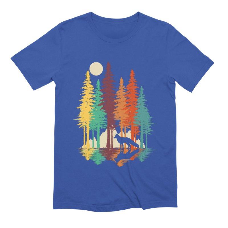 Forest Fox Men's Extra Soft T-Shirt by clingcling's Artist Shop