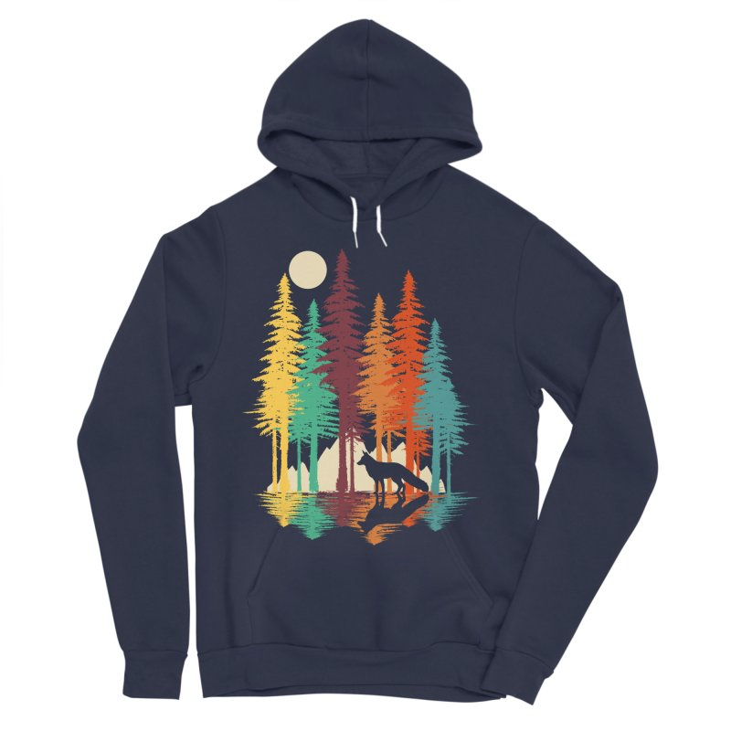 Forest Fox Women's Sponge Fleece Pullover Hoody by clingcling's Artist Shop