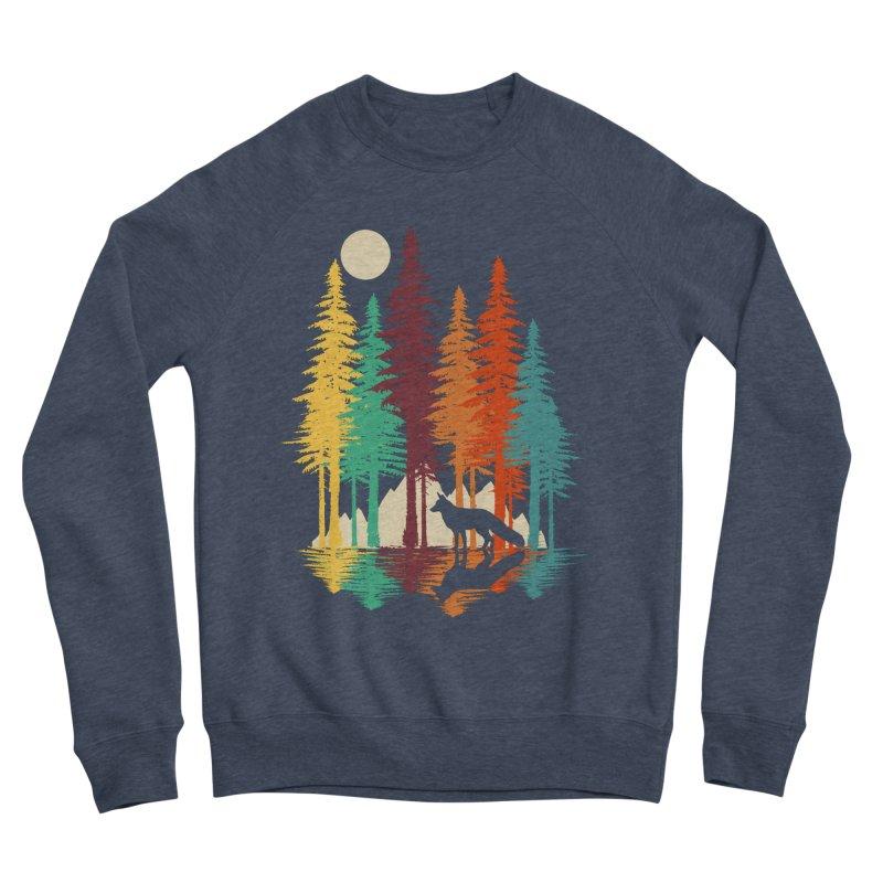 Forest Fox Men's Sponge Fleece Sweatshirt by clingcling's Artist Shop
