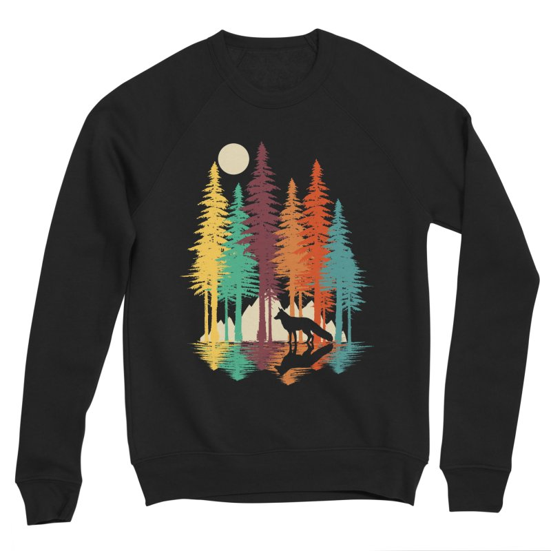 Forest Fox Men's Sponge Fleece Sweatshirt by clingcling's Artist Shop