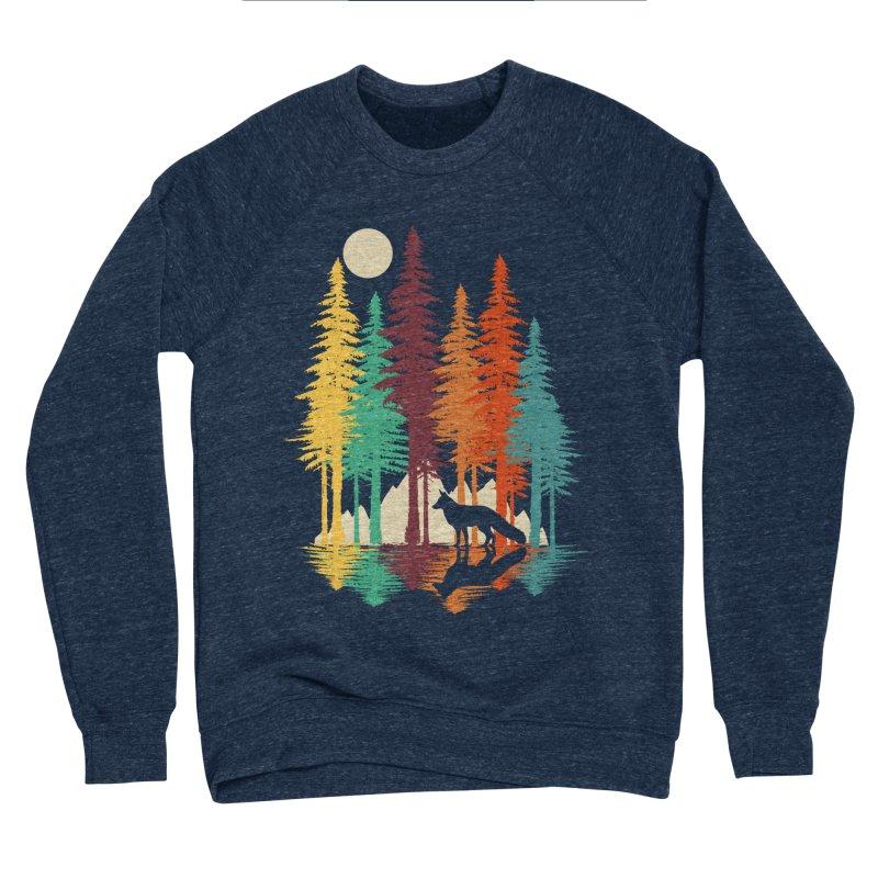 Forest Fox Women's Sponge Fleece Sweatshirt by clingcling's Artist Shop