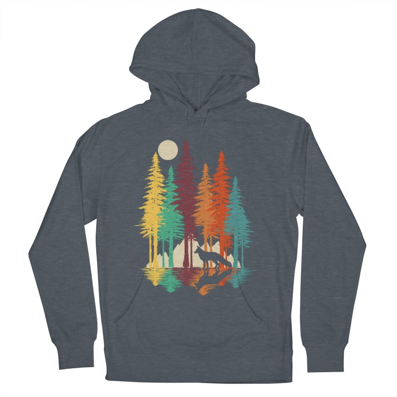 Forest Fox Women's French Terry Pullover Hoody by clingcling's Artist Shop