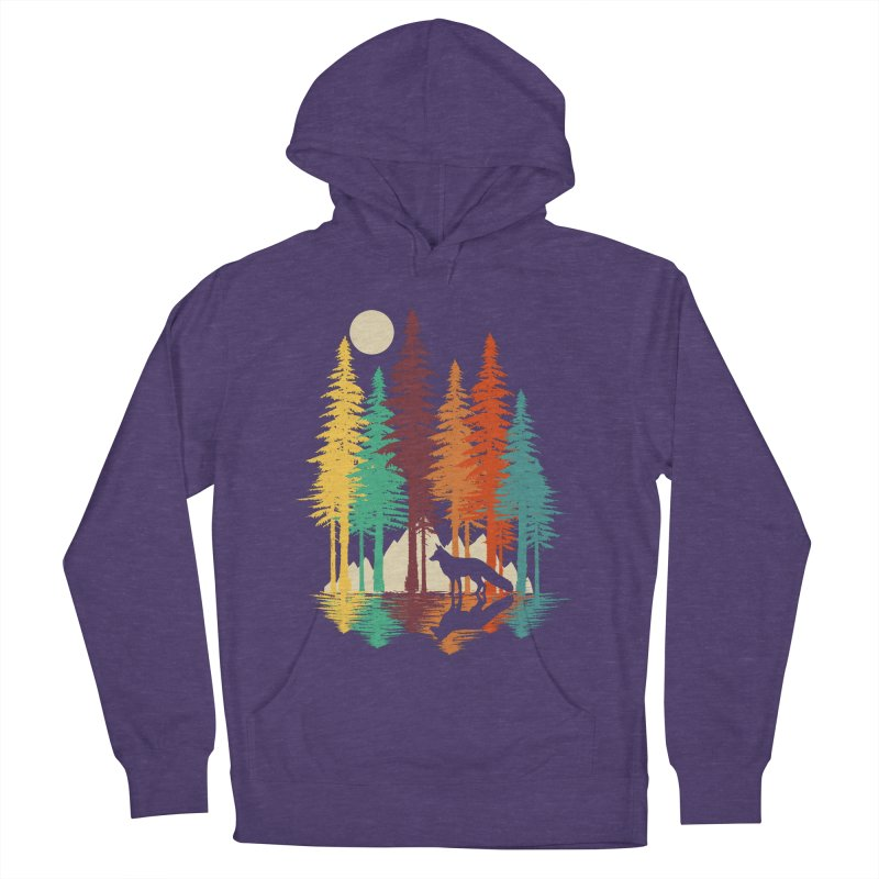 Forest Fox Men's French Terry Pullover Hoody by clingcling's Artist Shop