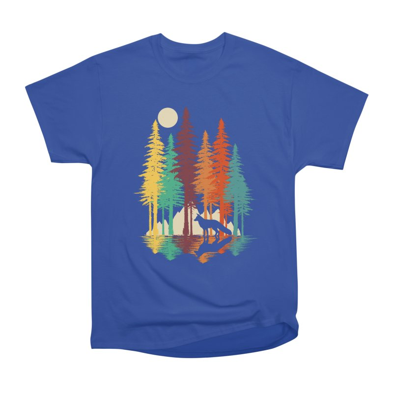 Forest Fox Women's Heavyweight Unisex T-Shirt by clingcling's Artist Shop