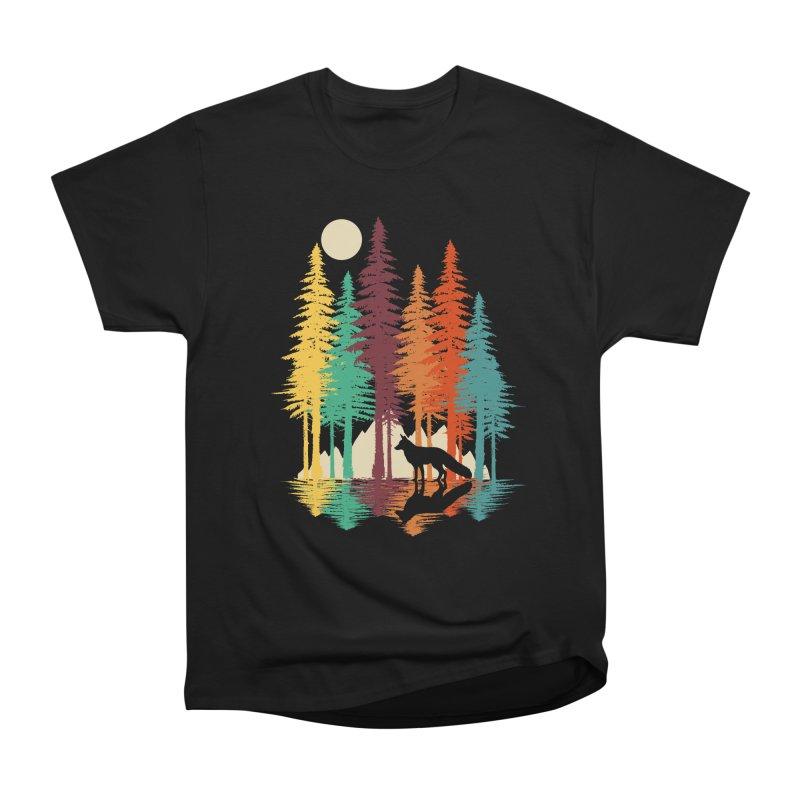 Forest Fox Men's Heavyweight T-Shirt by clingcling's Artist Shop