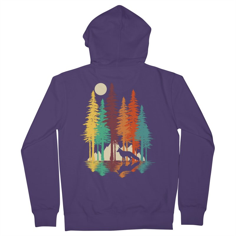 Forest Fox Women's French Terry Zip-Up Hoody by clingcling's Artist Shop