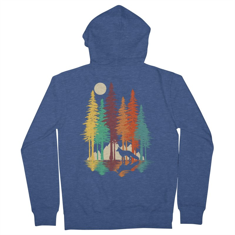 Forest Fox Men's French Terry Zip-Up Hoody by clingcling's Artist Shop