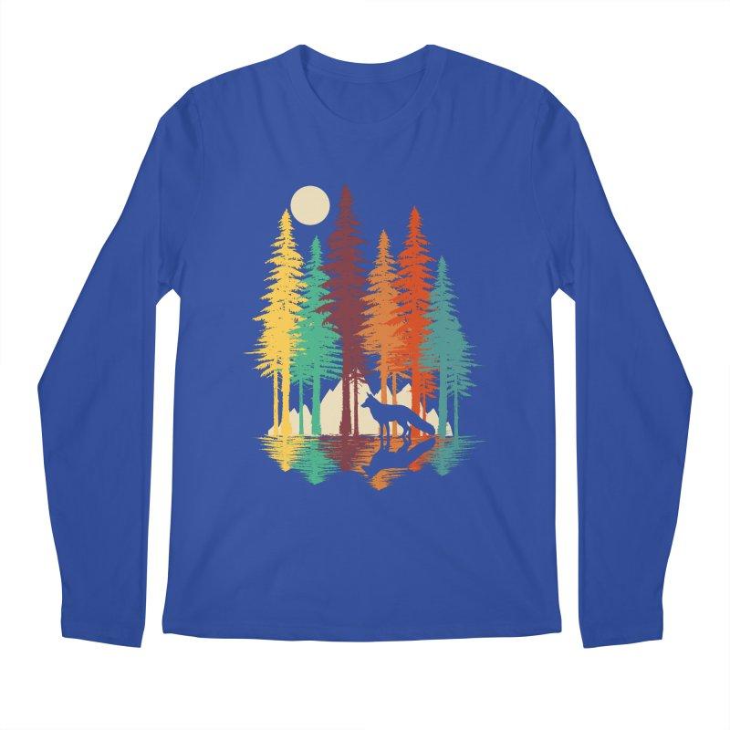Forest Fox Men's Regular Longsleeve T-Shirt by clingcling's Artist Shop