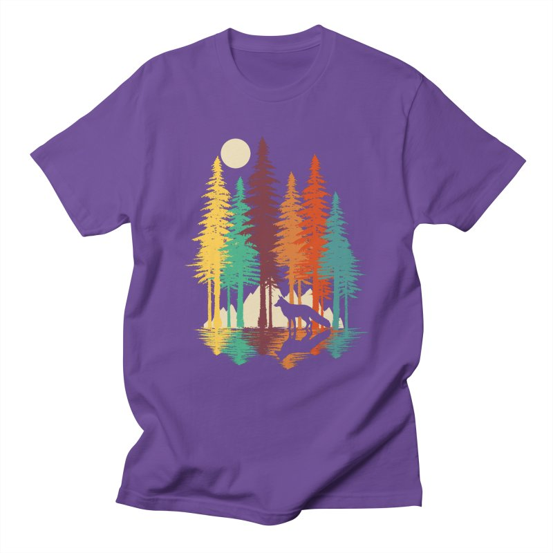 Forest Fox Women's Regular Unisex T-Shirt by clingcling's Artist Shop