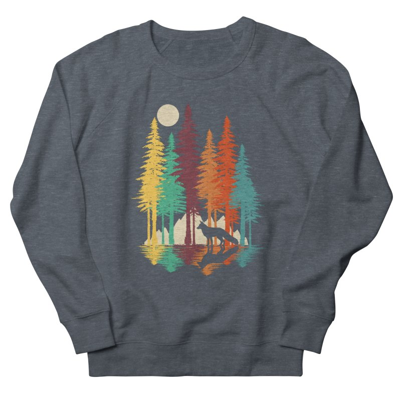 Forest Fox Men's French Terry Sweatshirt by clingcling's Artist Shop