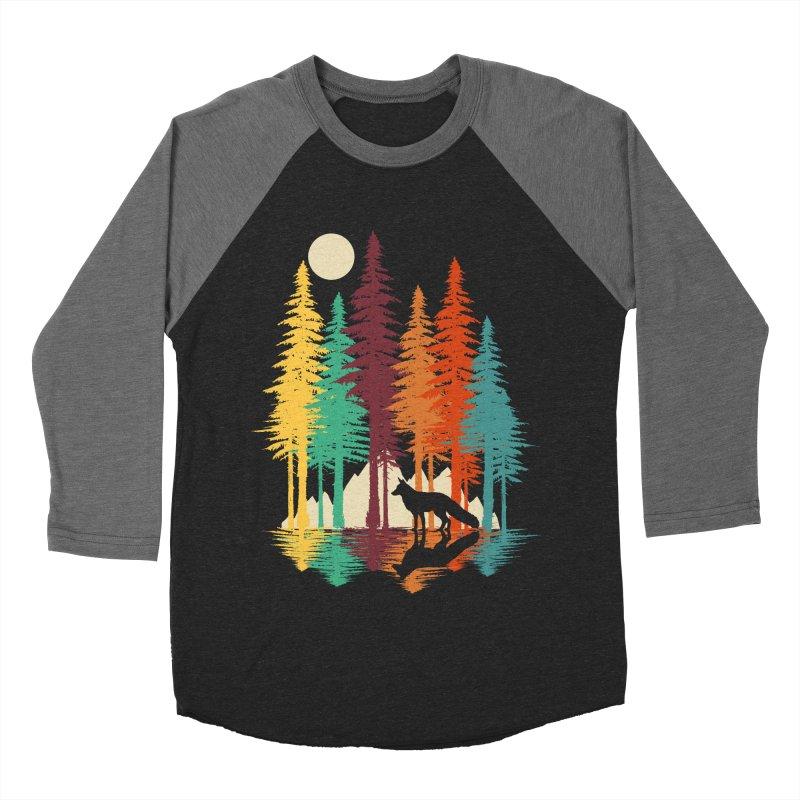 Forest Fox Men's Baseball Triblend Longsleeve T-Shirt by clingcling's Artist Shop