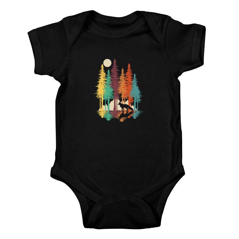 Forest Fox Kids Baby Bodysuit by clingcling's Artist Shop