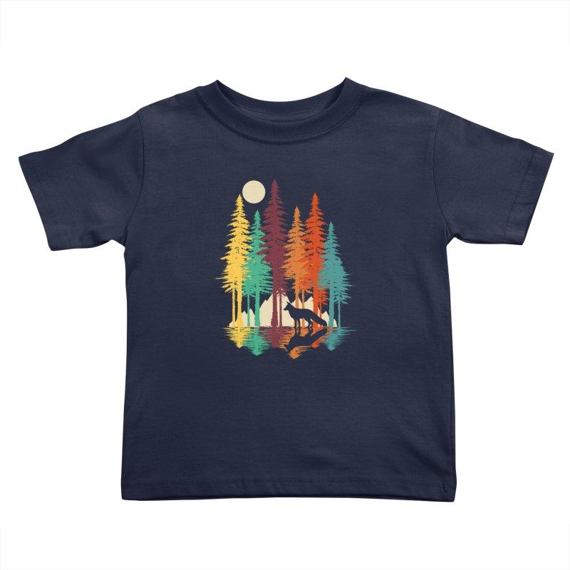 Forest Fox Kids Toddler T-Shirt by clingcling's Artist Shop