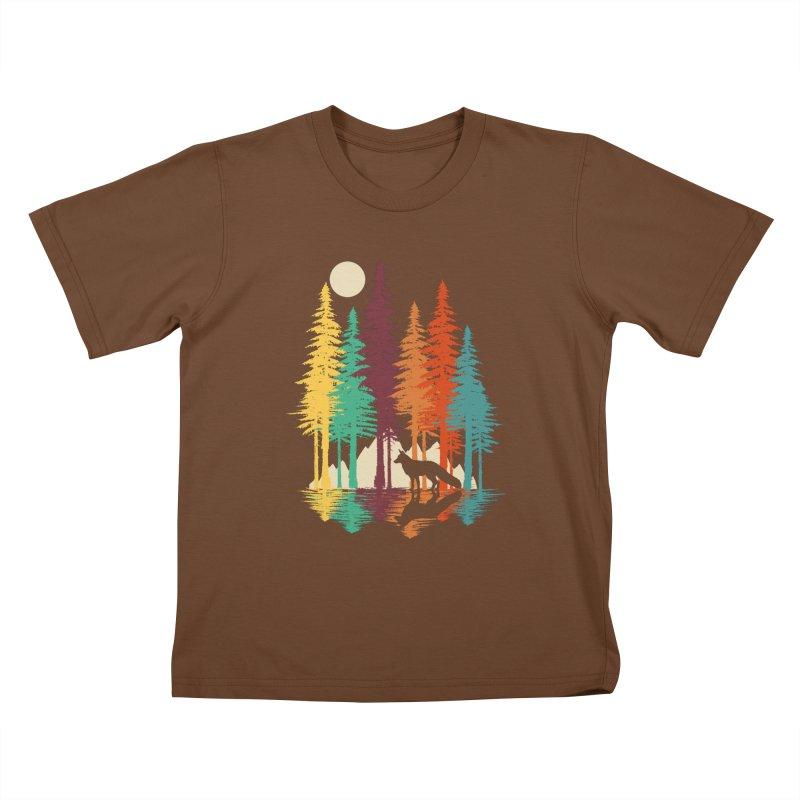 Forest Fox Kids T-Shirt by clingcling's Artist Shop