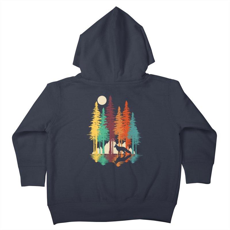 Forest Fox Kids Toddler Zip-Up Hoody by clingcling's Artist Shop
