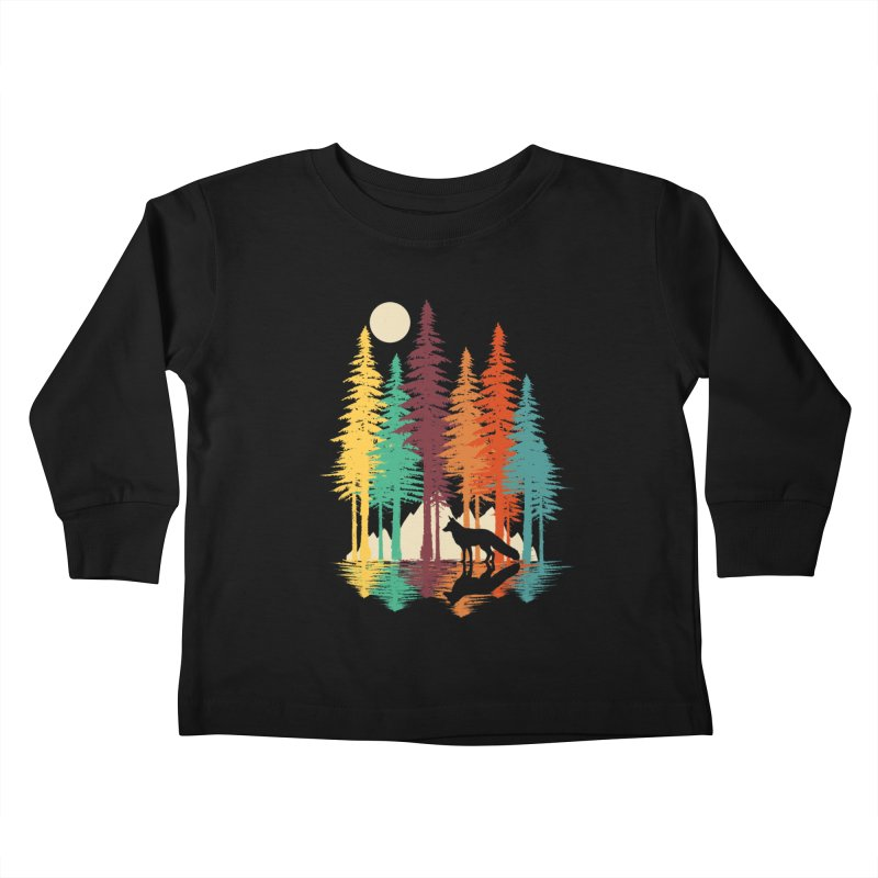 Forest Fox Kids Toddler Longsleeve T-Shirt by clingcling's Artist Shop